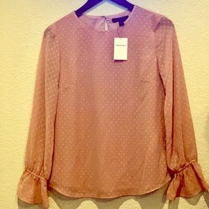 Banana Republic dotted pinkish/nude blouse size XS